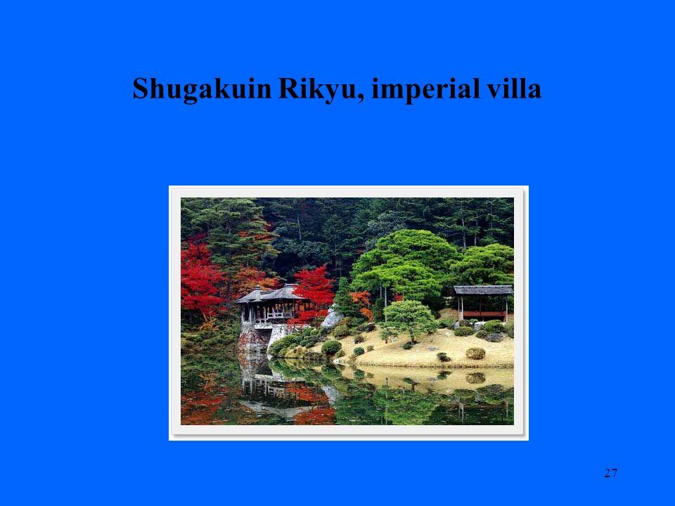 Shugakuin Rikyu, imperial villa 27