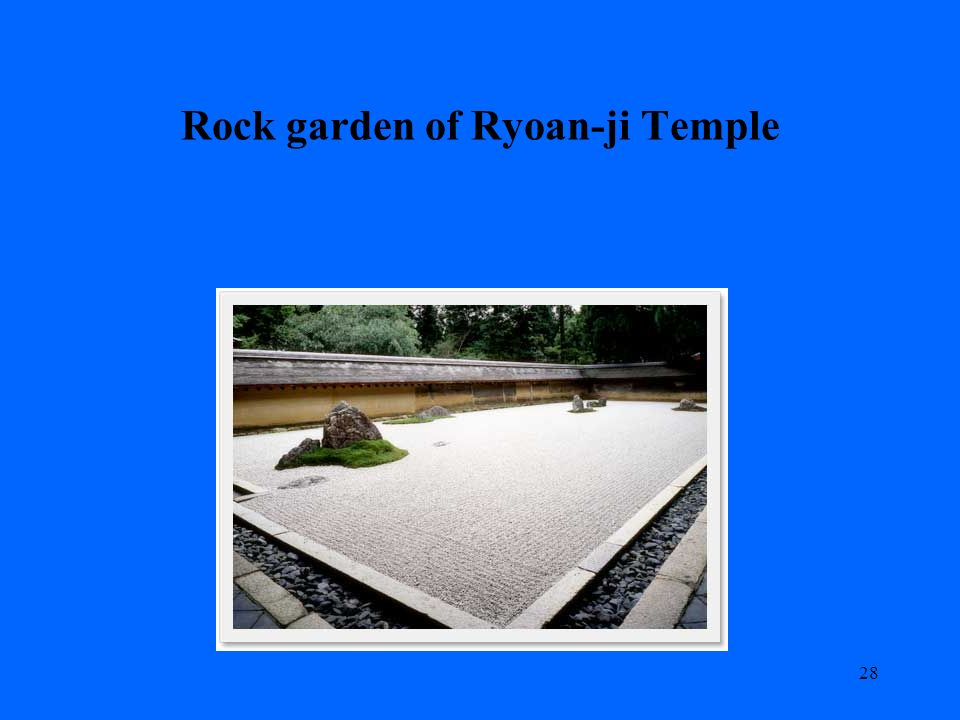 Rock garden of Ryoan-ji Temple 28