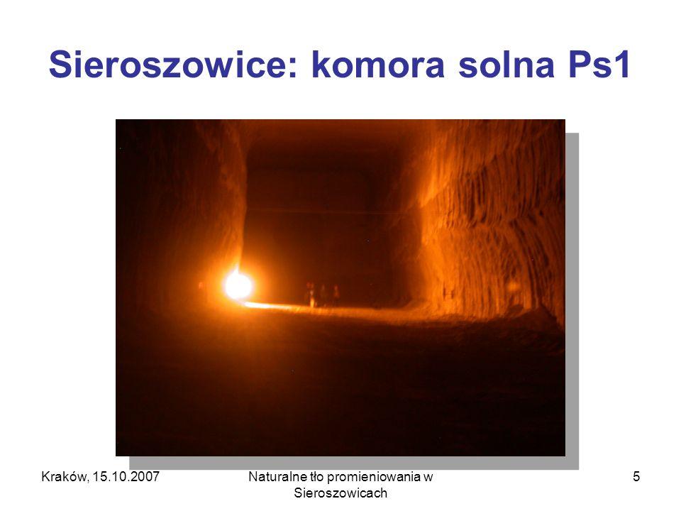 Kraków, 15.10.2007Naturalne tło promieniowania w Sieroszowicach 6 Sieroszowice: chodnik (dojazd do komór solnych)
