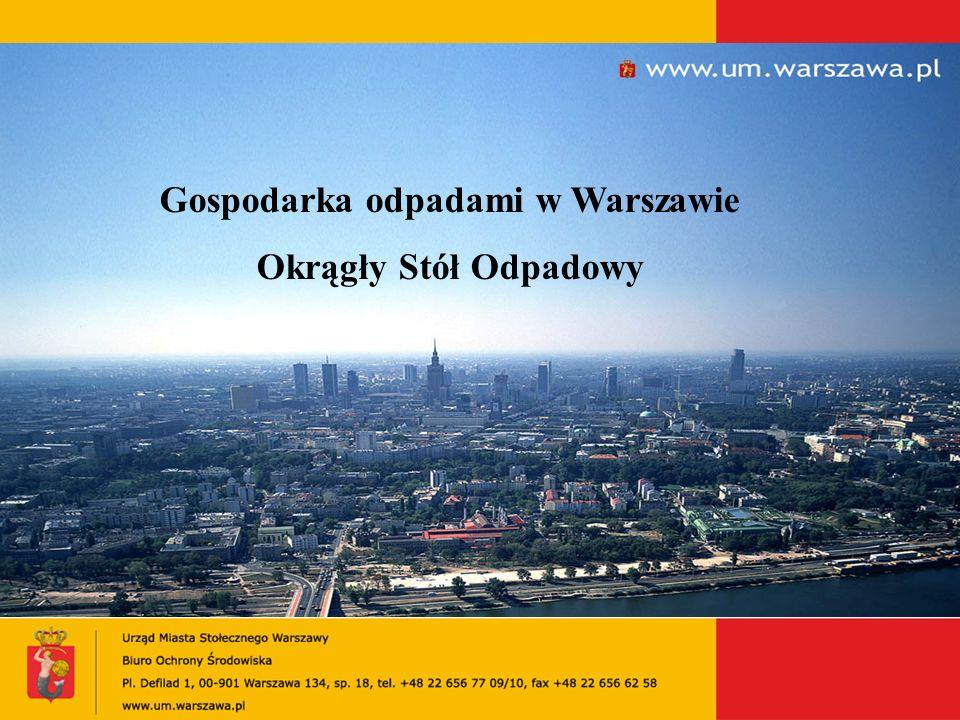 Gospodarka odpadami w Warszawie Okrągły Stół Odpadowy