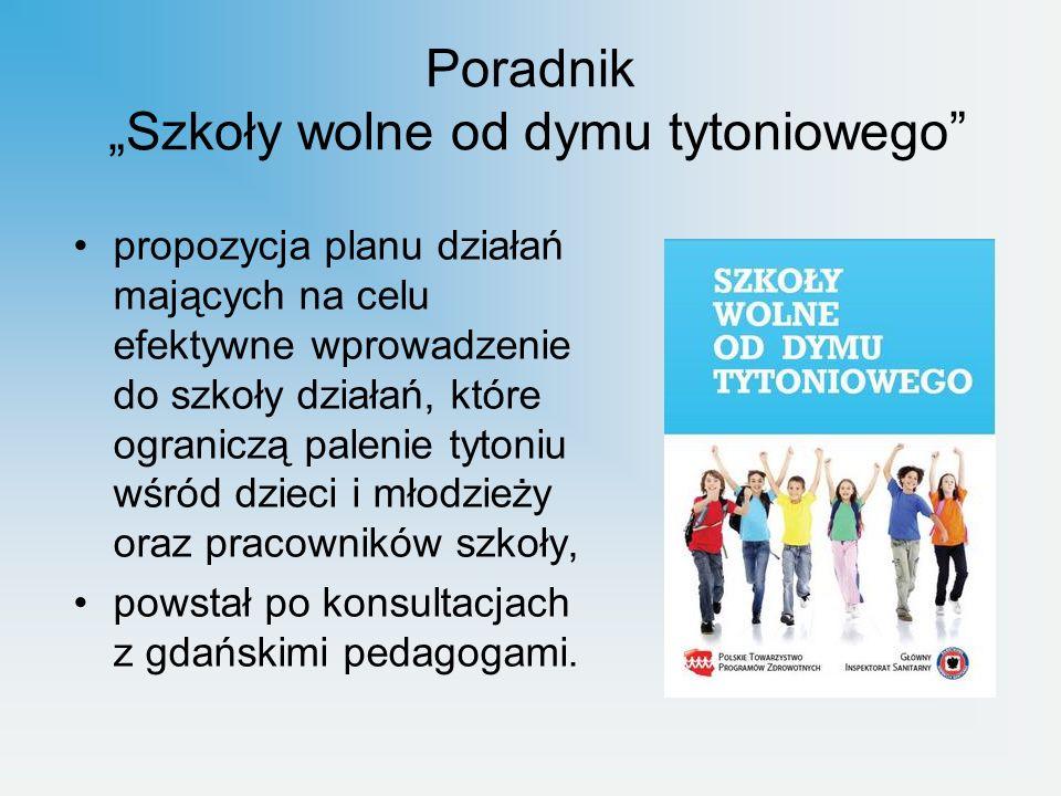 Wprowadzenie motywującego systemu wsparcia dla osób przyłapanych na paleniu tytoniu w postaci: rozmowy z uczniem nt.