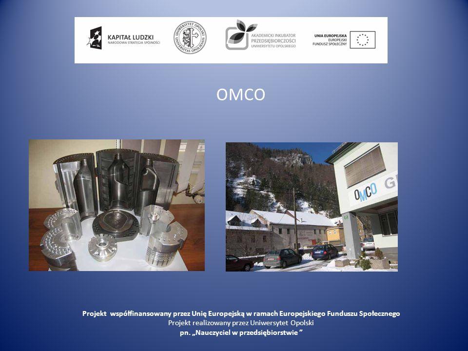 OMCO Projekt współfinansowany przez Unię Europejską w ramach Europejskiego Funduszu Społecznego Projekt realizowany przez Uniwersytet Opolski pn. Nauc