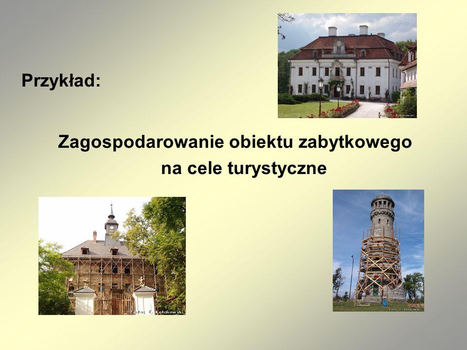 Przykład: Zagospodarowanie obiektu zabytkowego na cele turystyczne