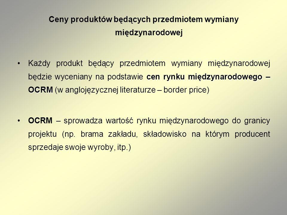 Ceny produktów będących przedmiotem wymiany międzynarodowej cen rynku międzynarodowego – OCRMKażdy produkt będący przedmiotem wymiany międzynarodowej