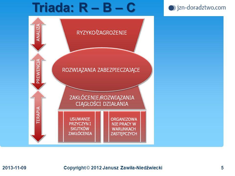 2013-11-096Janusz Zawiła-Niedźwiecki Środowisko społeczne Zarządzanie kryzysowe Środowisko biznesowe Środowisko techniczne Teoria niezawodności technicznej Zapewnianie ciągłości działania Teoria organizacji i zarządzania