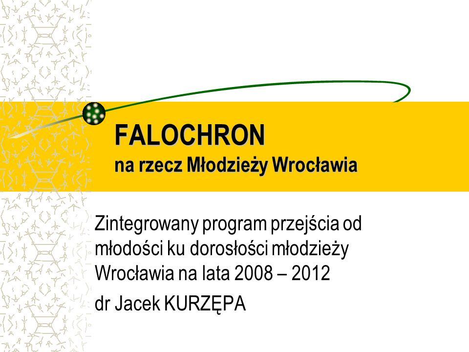 FALOCHRON na rzecz Młodzieży Wrocławia Zintegrowany program przejścia od młodości ku dorosłości młodzieży Wrocławia na lata 2008 – 2012 dr Jacek KURZĘ
