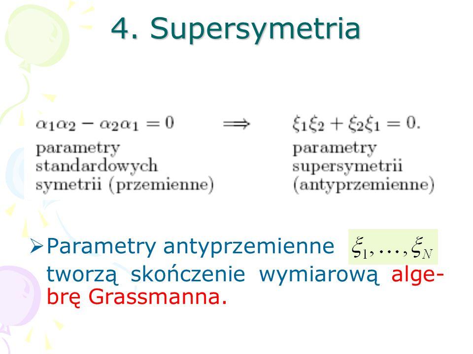 W powyższych scenariuszach od- dzielnie unifikujemy pola bozonowe, ze spinem całkowitym, oraz pola spi- norowe, ze spinem połówkowym. Pełna unifikacja