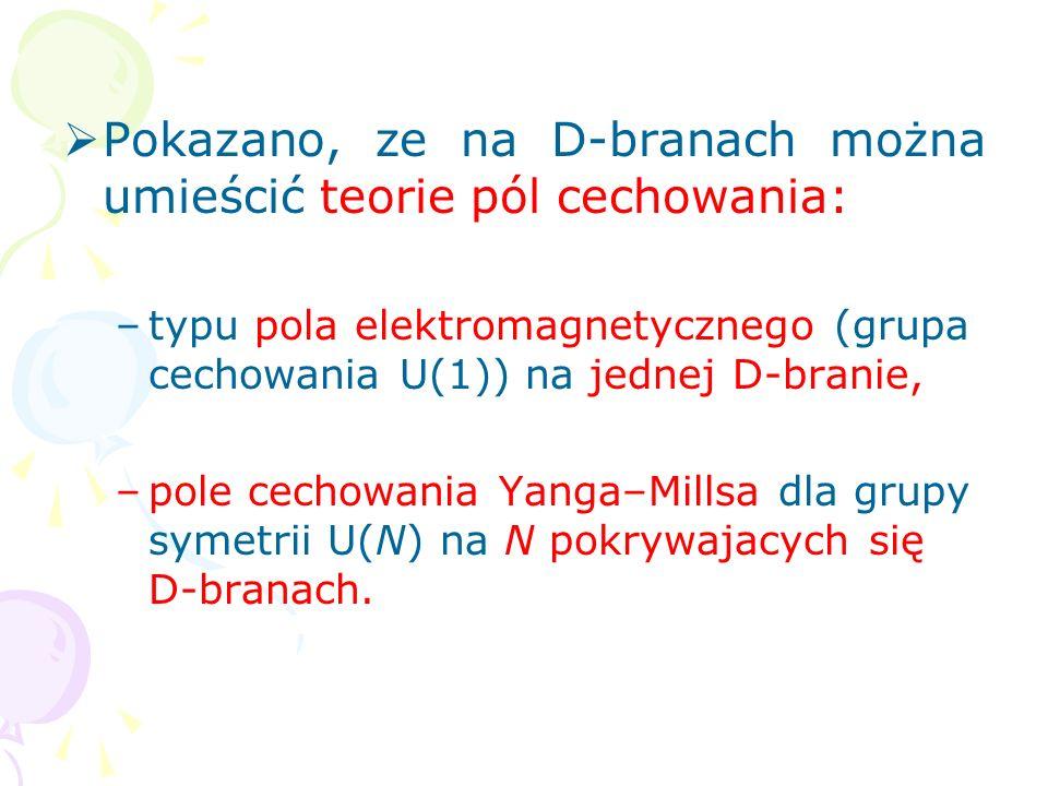 Na przykład w supergrawitacji D=11 istnieją dwa rozwiązania super- branowe: 1) supermembrana – super-2-brana M2, 2) superbrana 5-wymiarowa – super- 5-