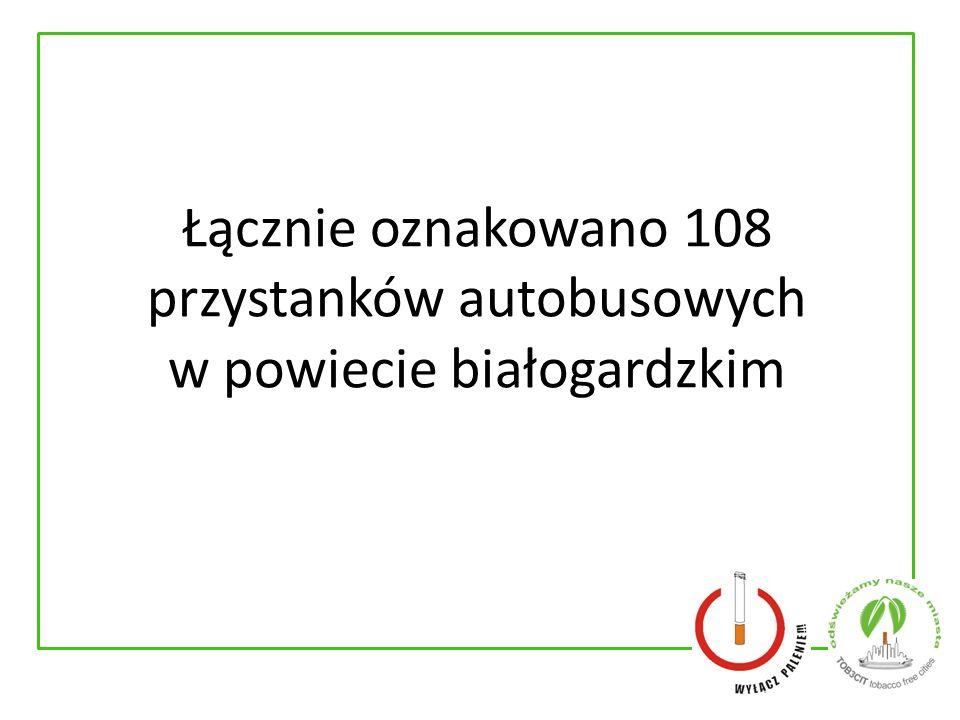 Łącznie oznakowano 108 przystanków autobusowych w powiecie białogardzkim