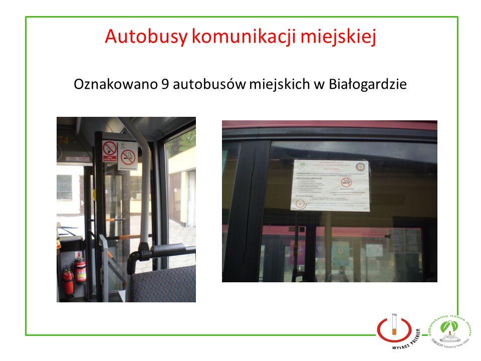Autobusy komunikacji miejskiej Oznakowano 9 autobusów miejskich w Białogardzie