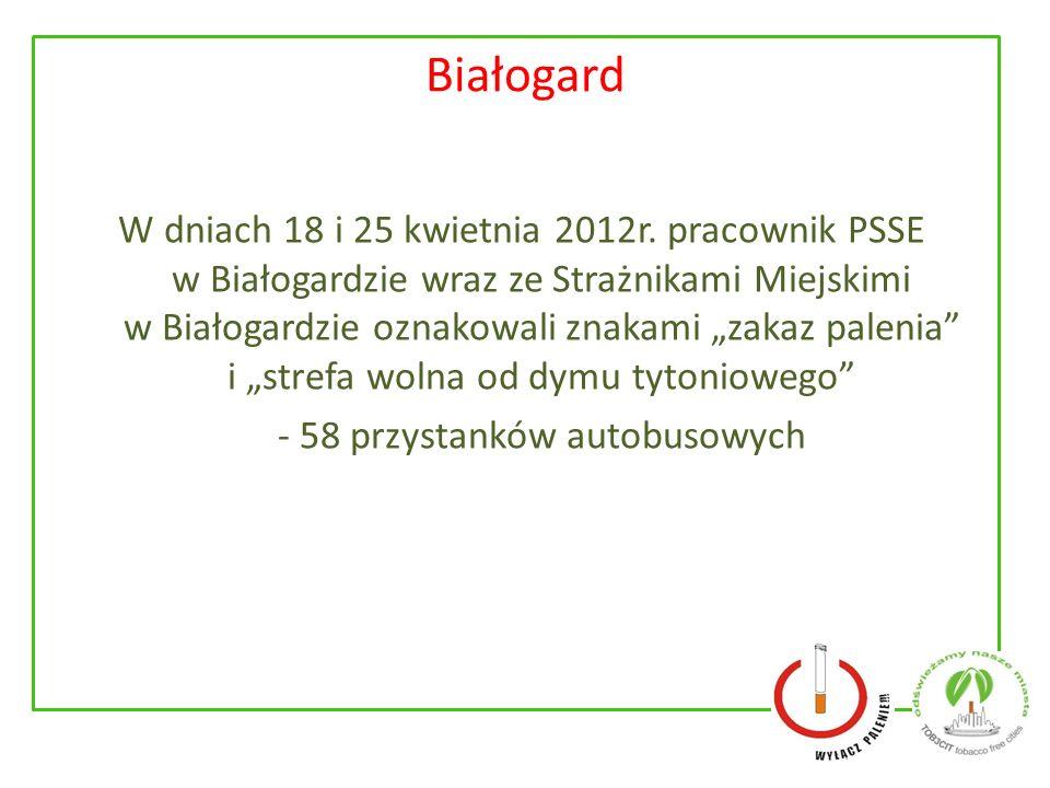 Białogard W dniach 18 i 25 kwietnia 2012r.