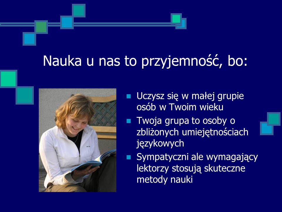 Od 1992 roku robimy najlepiej to, co potrafimy najlepiej – uczymy języków obcych. mgr filologii angielskiej Bożena Sosnowska - Dyrektor O F E R U J E