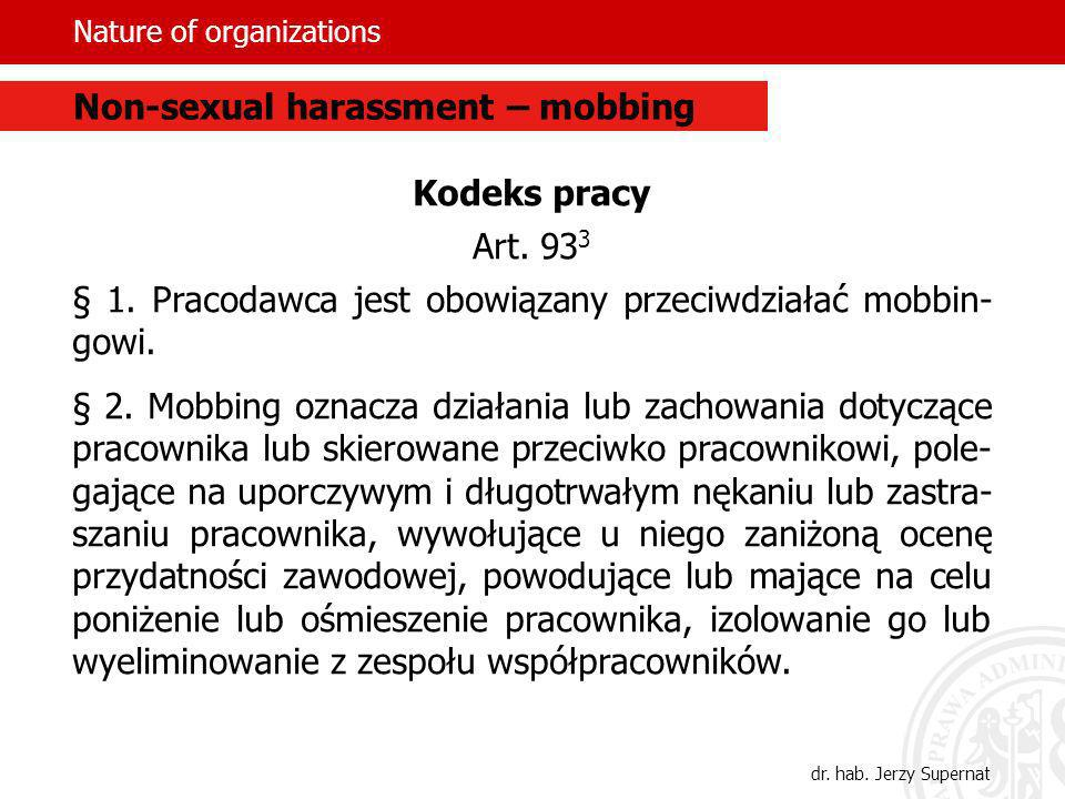 Nature of organizations Kodeks pracy Art.93 3 § 1.