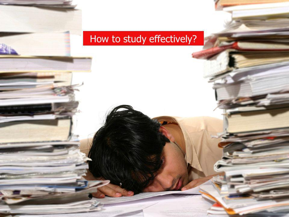 How to study effectively?