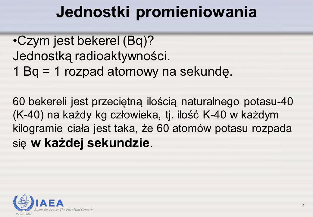 4 Jednostki promieniowania Czym jest bekerel (Bq).