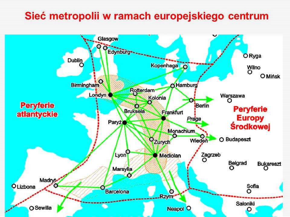 Sieć metropolii w ramach europejskiego centrum