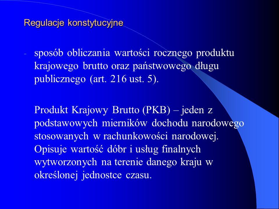 Sposób pokrycia potrzeb pożyczkowych budżetu państwa Deficyt budżetu państwa oraz inne potrzeby pożyczkowe budżetu państwa mogą być pokryte przychodami pochodzącymi z: 1) sprzedaży skarbowych papierów wartościowych na rynku krajowym i zagranicznym, 2) kredytów zaciąganych w bankach krajowych i zagranicznych, 3) pożyczek, 3) prywatyzacji majątku SP, 4) nadwyżki budżetu państwa z lat ubiegłych.