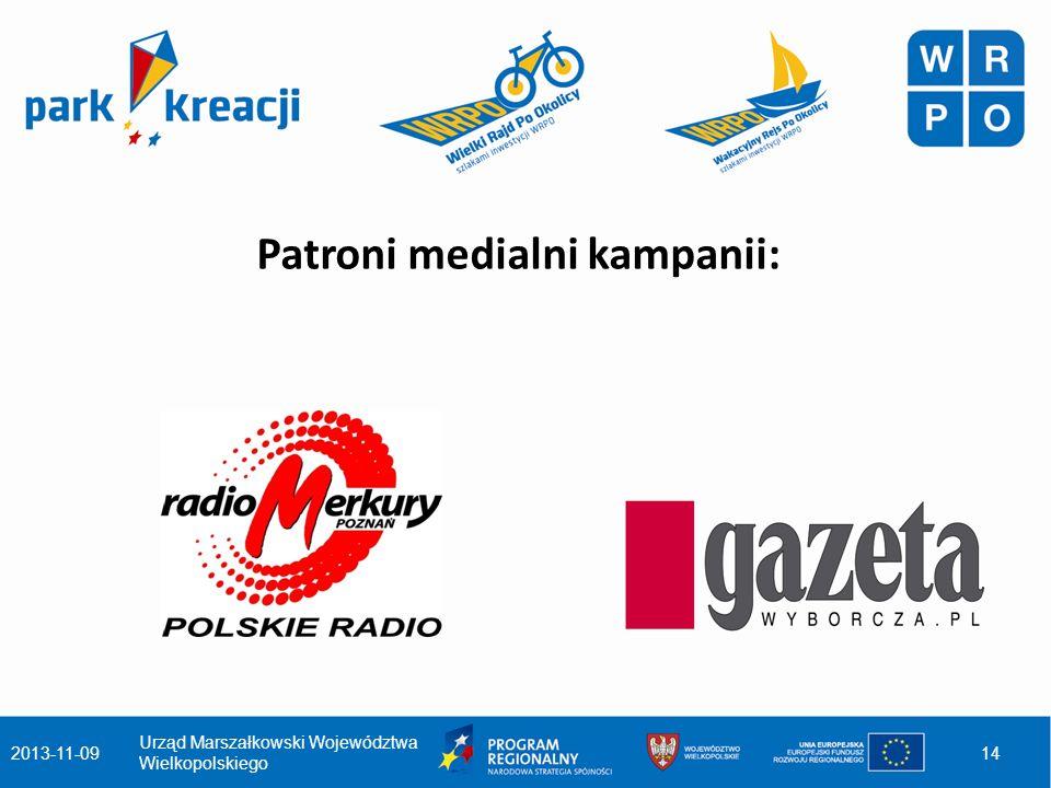 Patroni medialni kampanii: 2013-11-09 Urząd Marszałkowski Województwa Wielkopolskiego 14