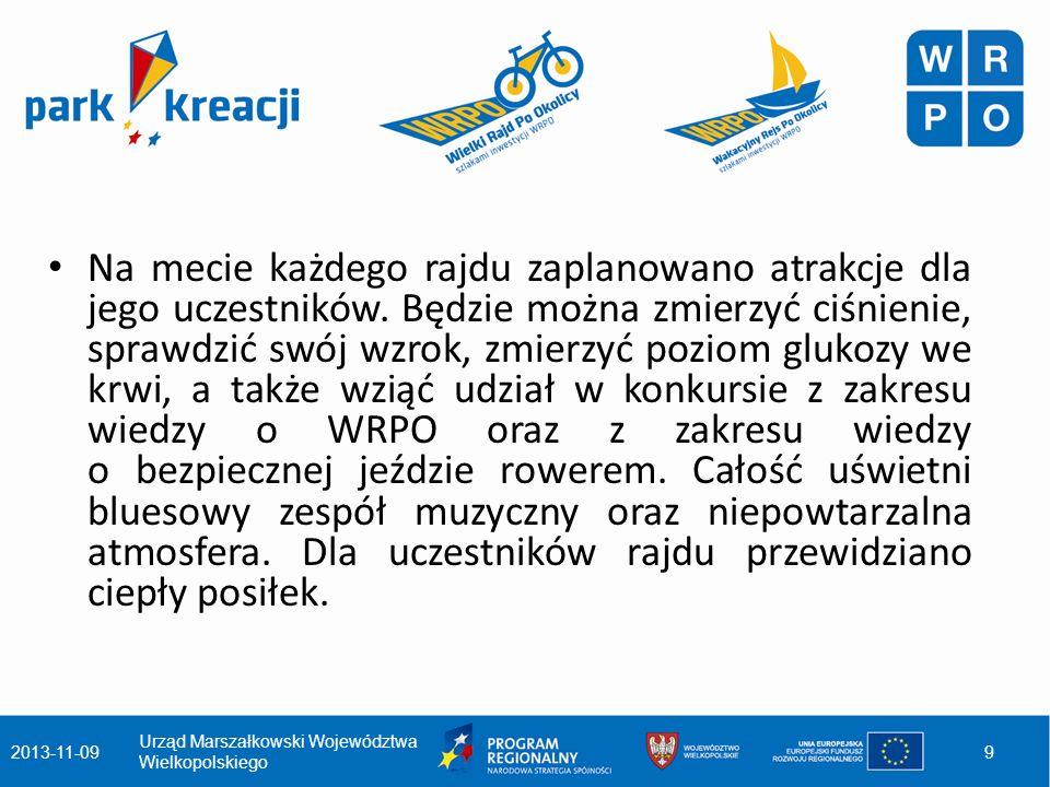 Dla dziennikarzy i mieszkańców regionu zaplanowano dwugodzinne rejsy po Wielkiej Pętli Wielkopolski, podczas których zaproszeni przedstawiciele wielkopolskich mediów lokalnych oraz rodziny z dziećmi będą mogły zapoznać się z efektami wdrażania WRPO.