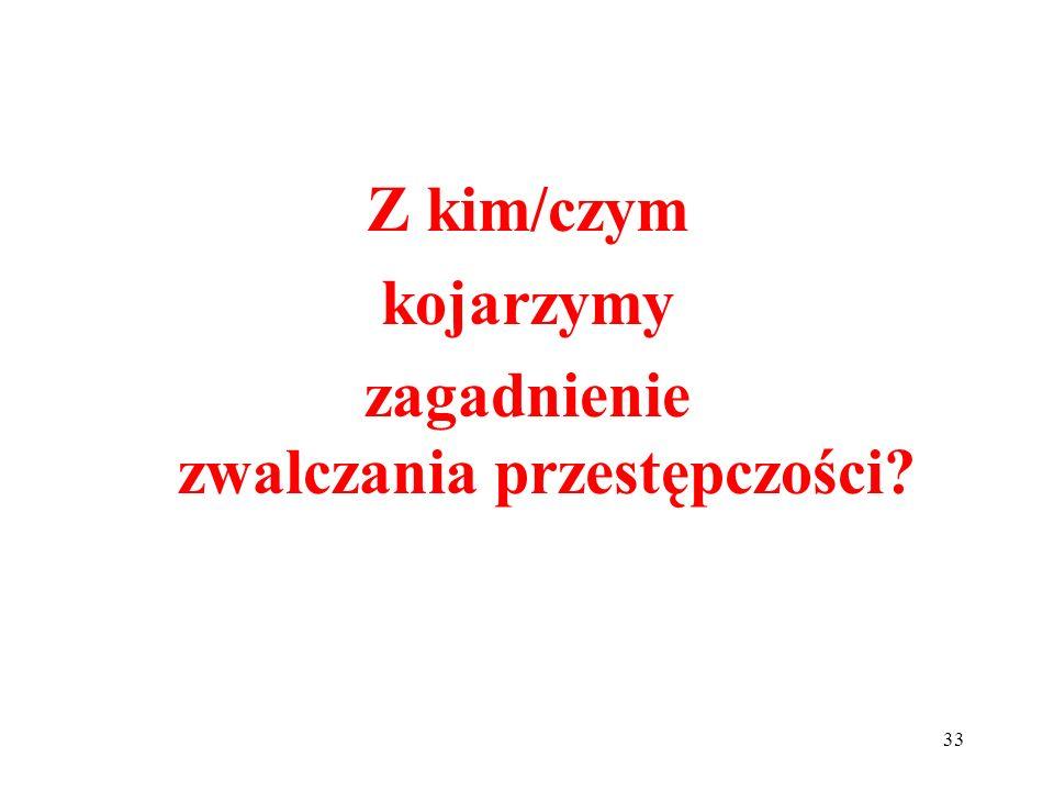 34 Zadowolenie Polaków z policji – CBOS, marzec 2013