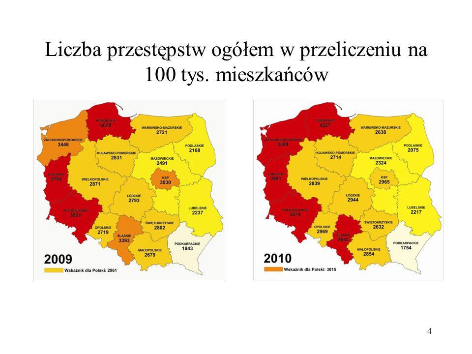 Liczba przestępstw ogółem w przeliczeniu na 100 tys. mieszkańców 4