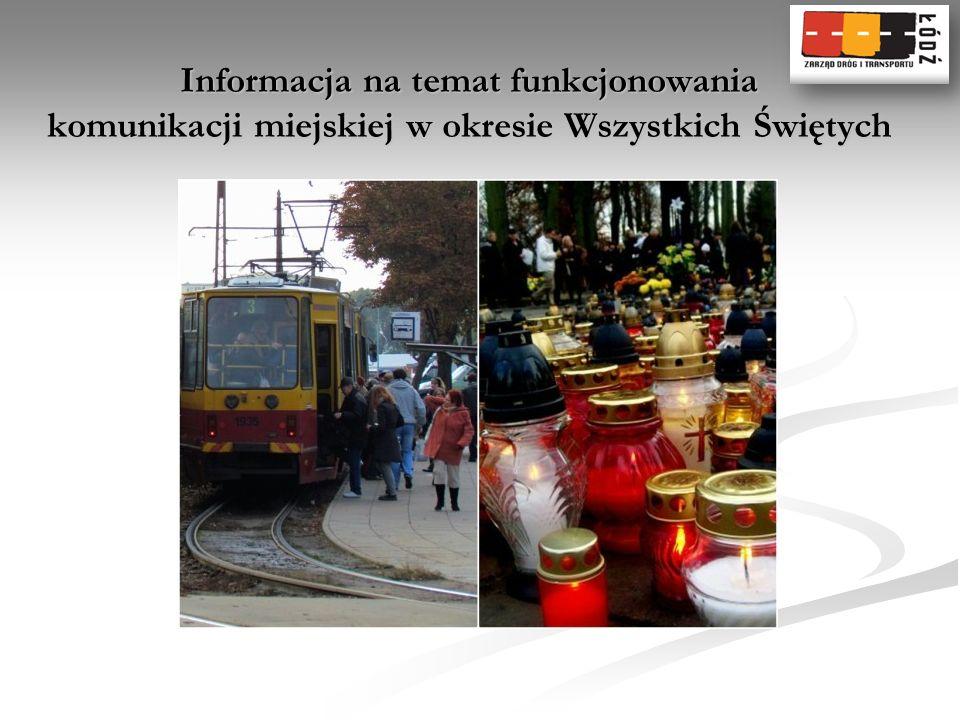 Informacja na temat funkcjonowania komunikacji miejskiej w okresie Wszystkich Świętych