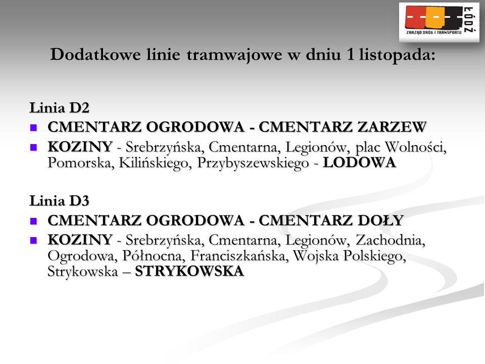Linia D2 CMENTARZ OGRODOWA - CMENTARZ ZARZEW CMENTARZ OGRODOWA - CMENTARZ ZARZEW KOZINY - Srebrzyńska, Cmentarna, Legionów, plac Wolności, Pomorska, K
