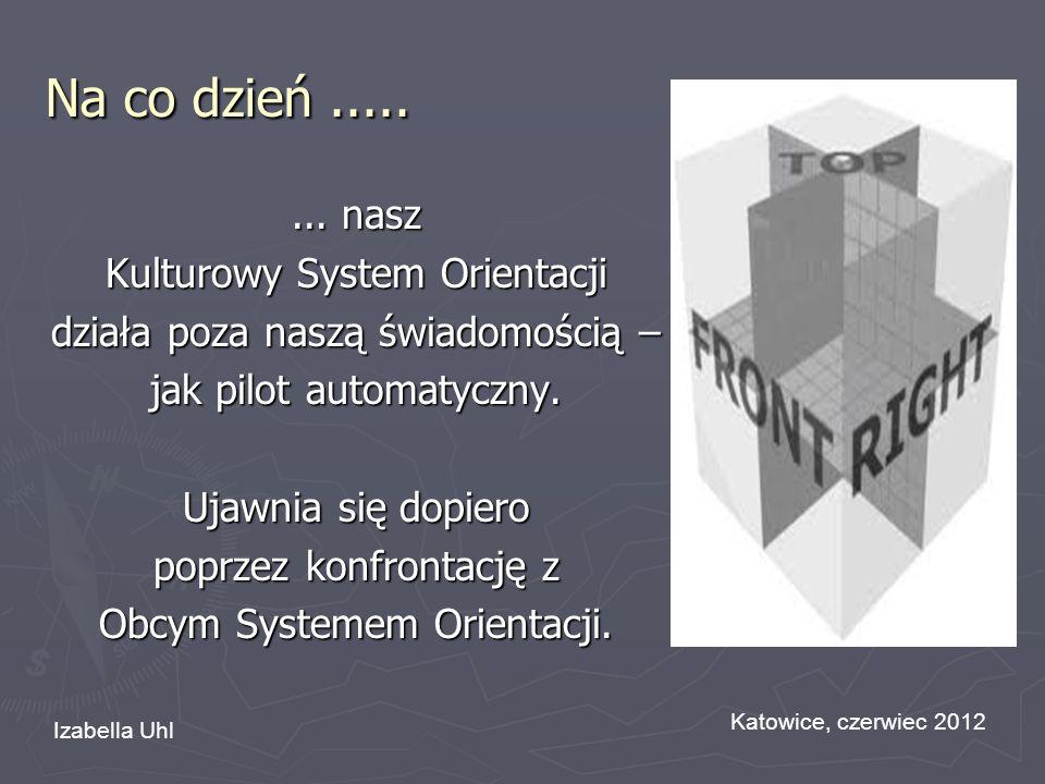 Na co dzień........ nasz Kulturowy System Orientacji działa poza naszą świadomością – jak pilot automatyczny. Ujawnia się dopiero poprzez konfrontację