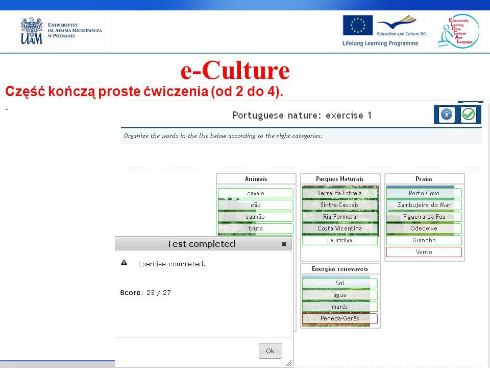 . e-Culture Część kończą proste ćwiczenia (od 2 do 4).
