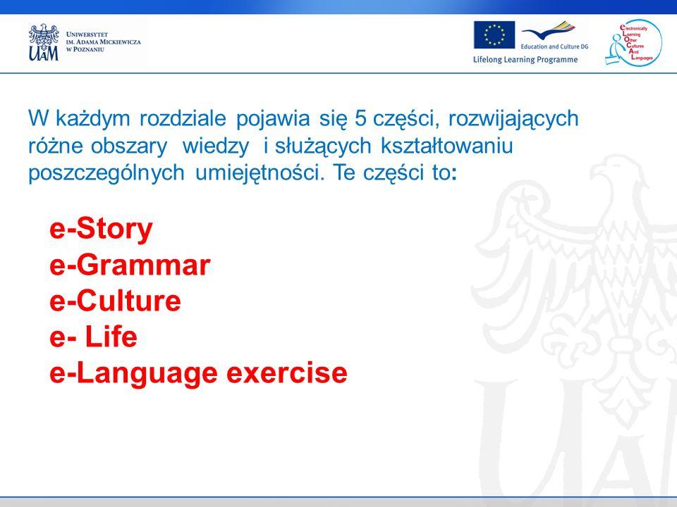 . e-Language exercise Znajomość słownictwa.