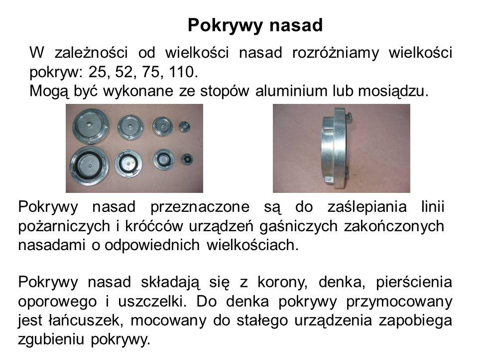Pokrywy nasad W zależności od wielkości nasad rozróżniamy wielkości pokryw: 25, 52, 75, 110.