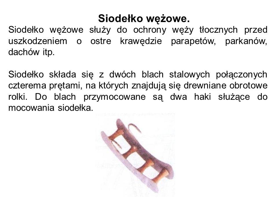 Siodełko wężowe służy do ochrony węży tłocznych przed uszkodzeniem o ostre krawędzie parapetów, parkanów, dachów itp.