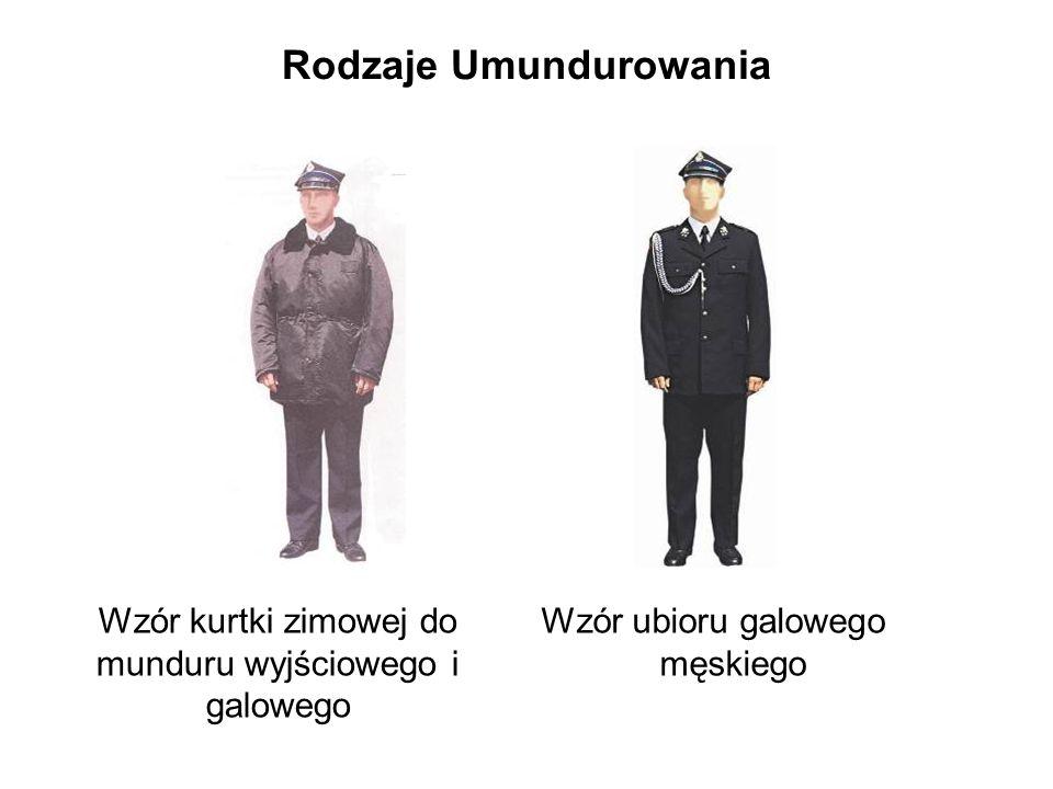 Rodzaje Umundurowania Wzór kurtki zimowej do munduru wyjściowego i galowego Wzór ubioru galowego męskiego