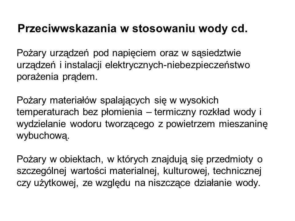 Przeciwwskazania w stosowaniu wody cd.