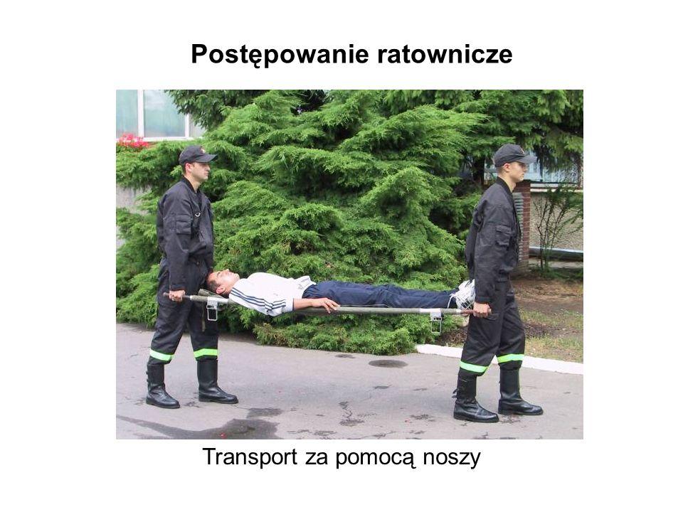 Postępowanie ratownicze Transport za pomocą noszy