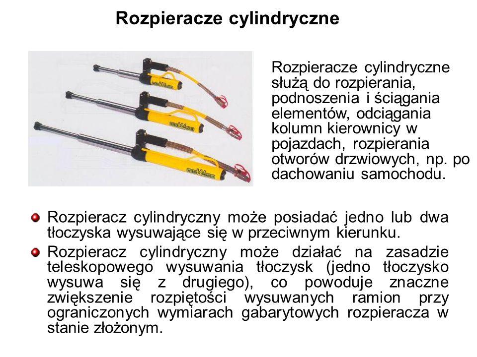 Rozpieracze cylindryczne Rozpieracz cylindryczny może posiadać jedno lub dwa tłoczyska wysuwające się w przeciwnym kierunku.