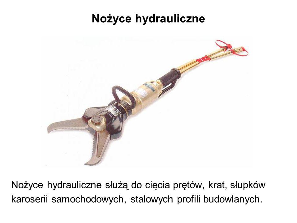 Nożyce hydrauliczne Nożyce hydrauliczne służą do cięcia prętów, krat, słupków karoserii samochodowych, stalowych profili budowlanych.