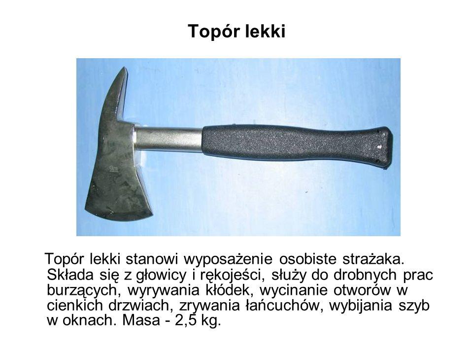 Topór lekki Topór lekki stanowi wyposażenie osobiste strażaka.