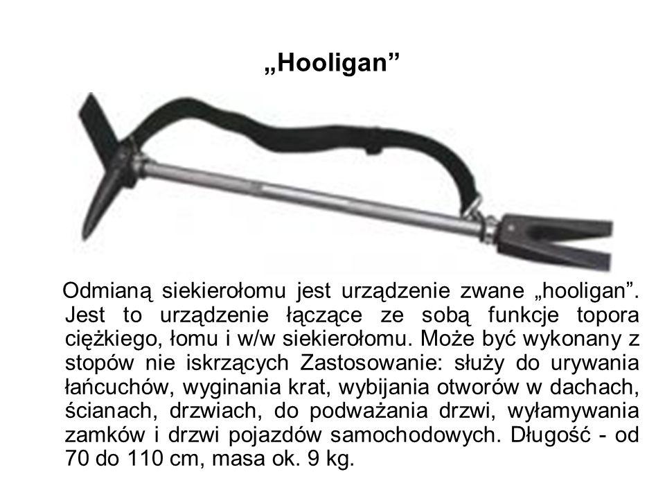 Hooligan Odmianą siekierołomu jest urządzenie zwane hooligan.