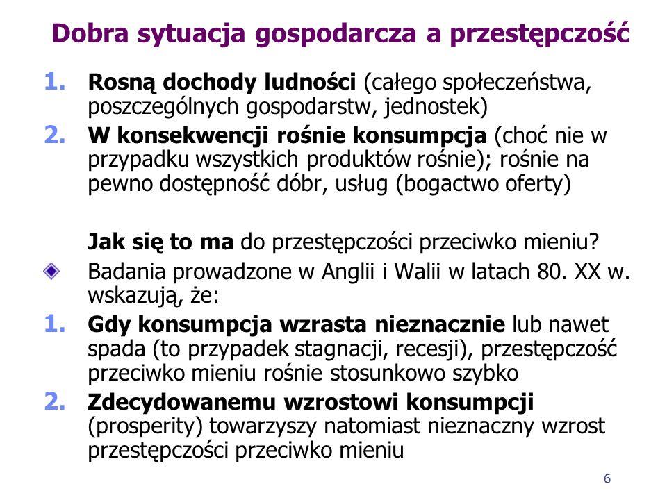 26 Przestępczość ujawniona w Polsce – dynamika w okresie zmian ustrojowych 1.