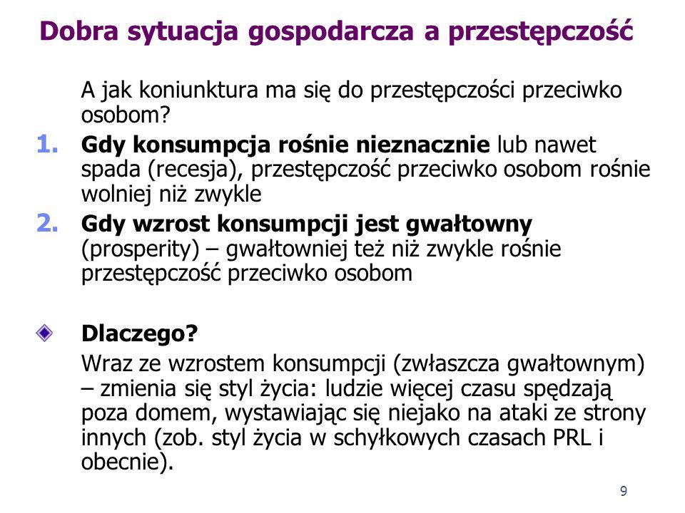29 Struktura przestępczości w Polsce w okresie transformacji 1.