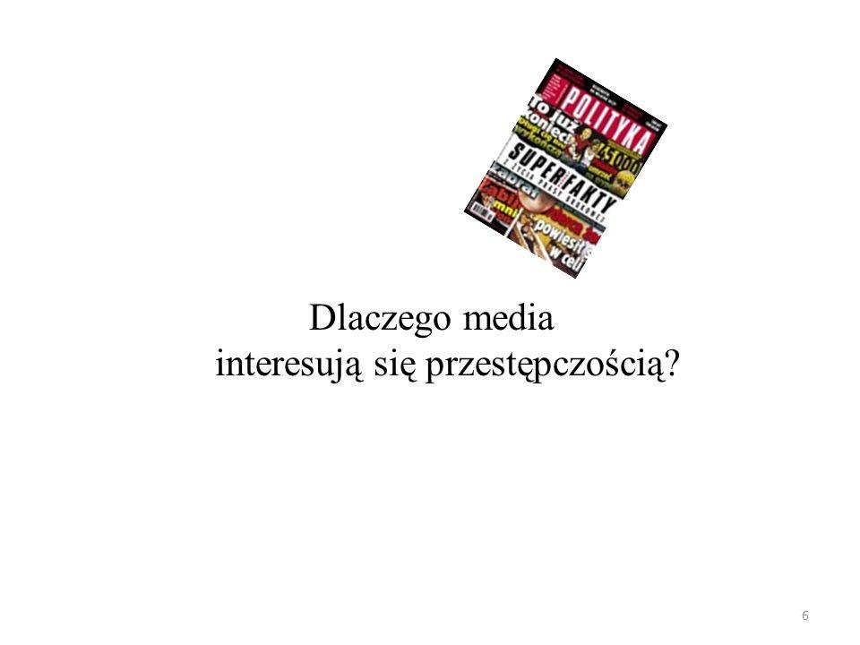 6 Dlaczego media interesują się przestępczością?