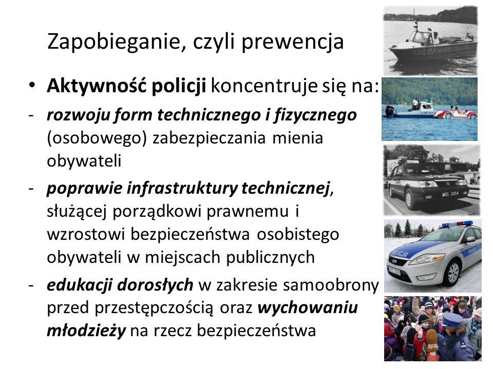 Zwalczanie zjawisk przestępczych – rola policji Polską policję tworzą generalnie nast.