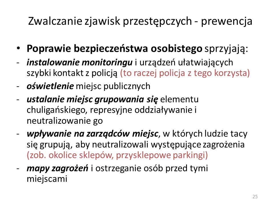 Zwalczanie zjawisk przestępczych - prewencja W obliczu ww.