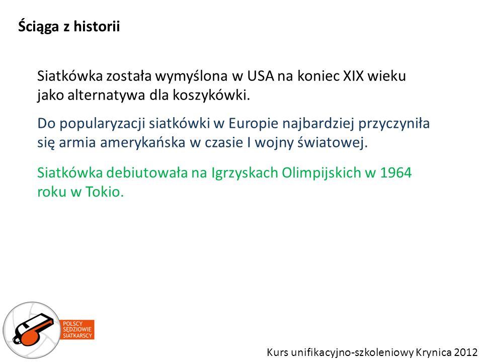 Siatkówka została wymyślona w USA na koniec XIX wieku jako alternatywa dla koszykówki. Siatkówka debiutowała na Igrzyskach Olimpijskich w 1964 roku w