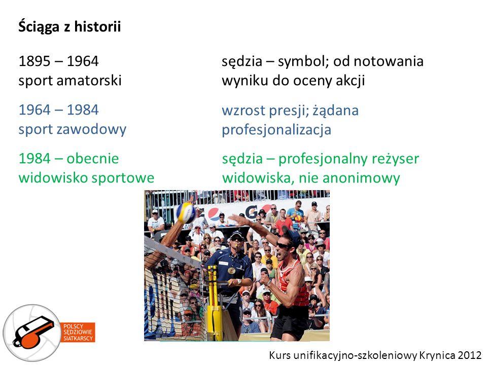 Ściąga z historii 1895 – 1964 sport amatorski 1964 – 1984 sport zawodowy 1984 – obecnie widowisko sportowe sędzia – symbol; od notowania wyniku do oce