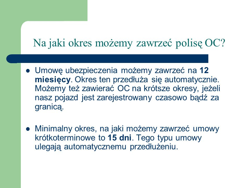 Kalkulacja składki OC dla bardzo młodego kierowcy.