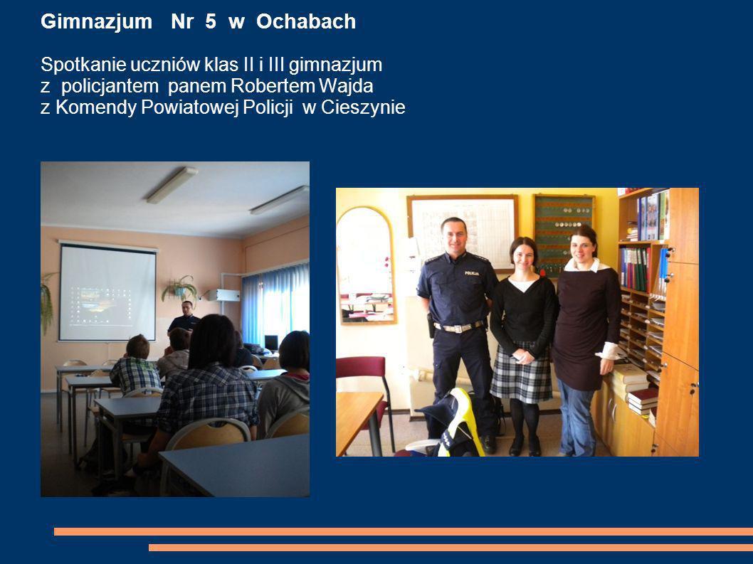 Gimnazjum Nr 4 w Skoczowie Prelekcja dla uczniów klas II i III gimnazjum Mój zawód - moja pasja spotkanie z panem dr.