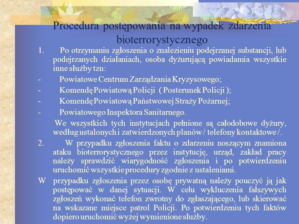 Podstawowa dokumentacja Plan reagowania kryzysowego Procedury postępowania