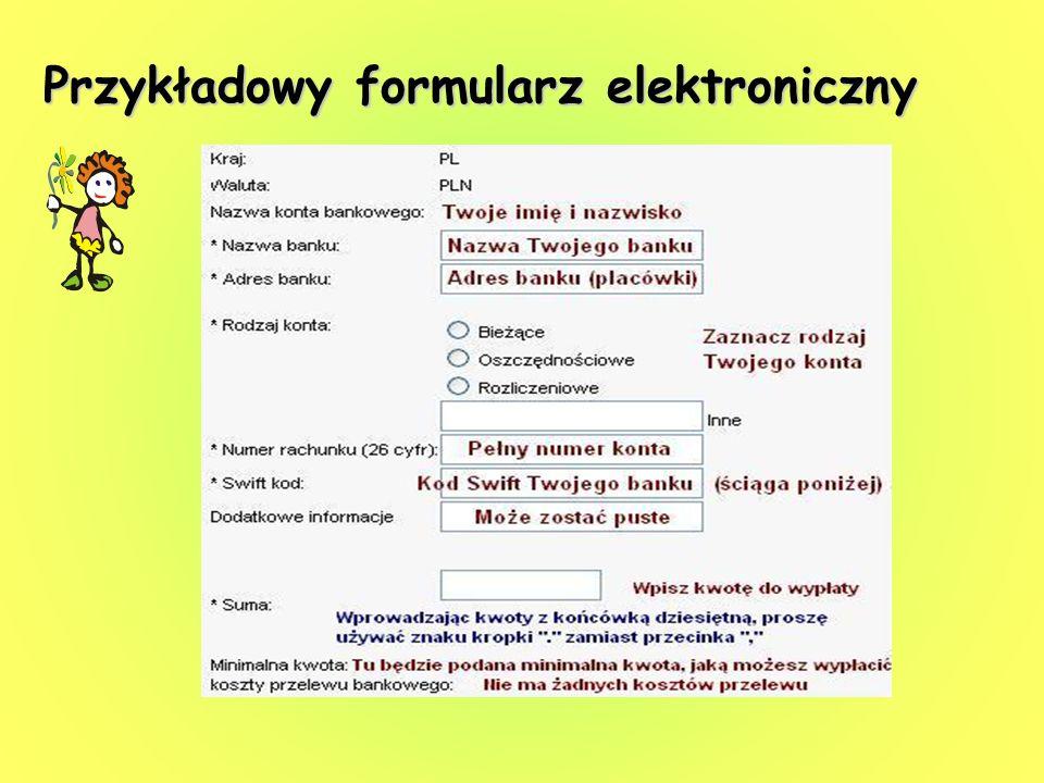 Przykładowy formularz elektroniczny